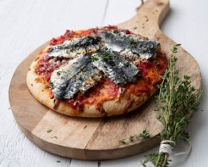 Sprot pizza met oregano